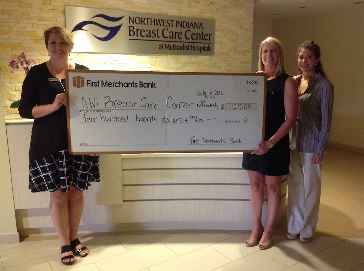 First Merchants Bank Holds Blue Jeans Day for the Northwest Indiana Breast Care Center