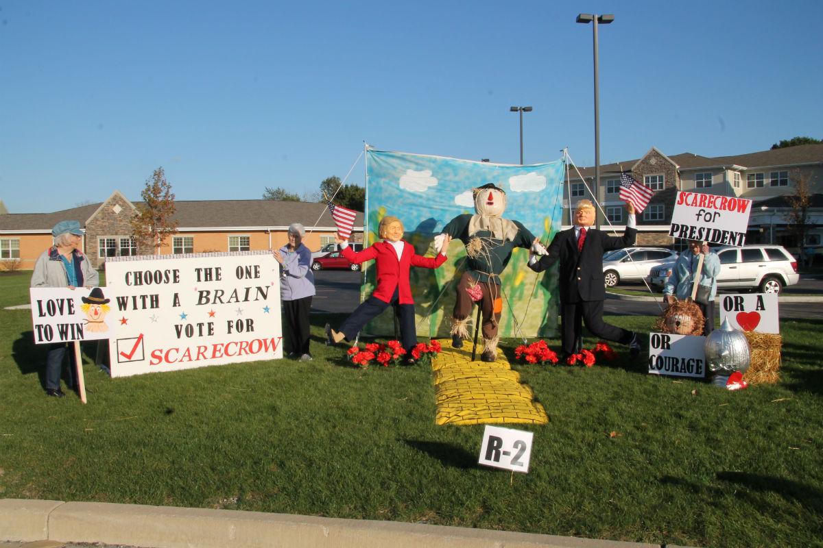 Scarecrow Contest at Residences at Deer Creek Mixes Politics and Laughs