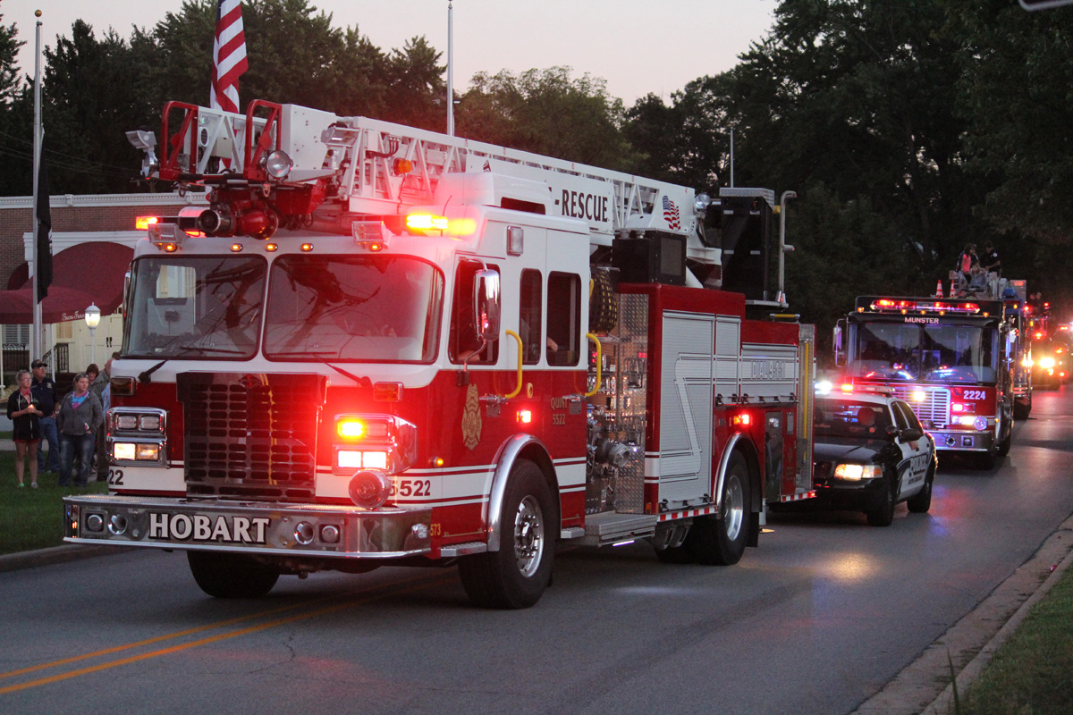 Hobart Holds 3rd Memorial 9-11 Parade In Honor of Military and First Responders