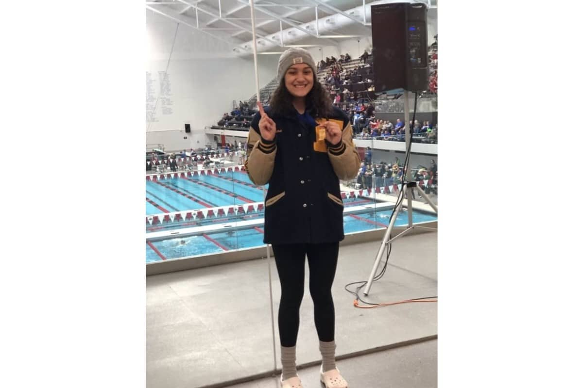 Hobart High School student wins big at state swim conference