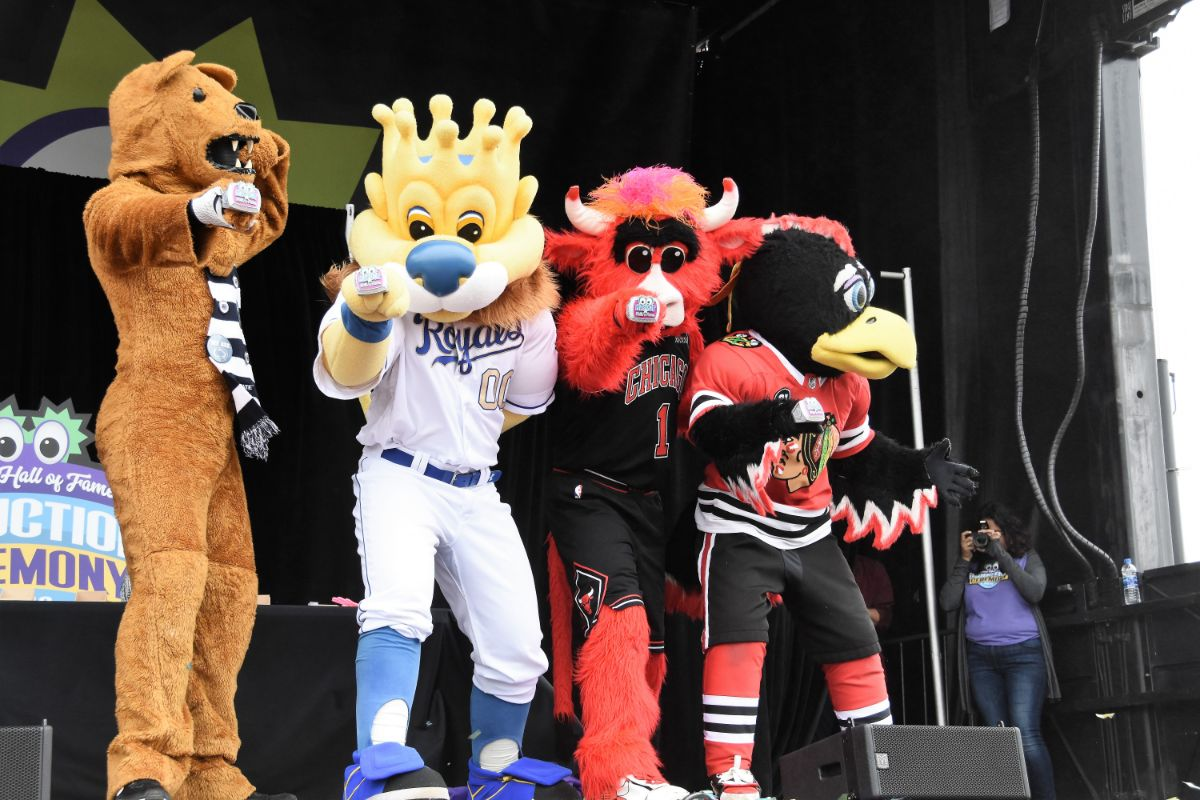 """Silly-Bration"" of Mascots Past and Present at 2019 Mascot Hall of Fame Induction in Whiting"