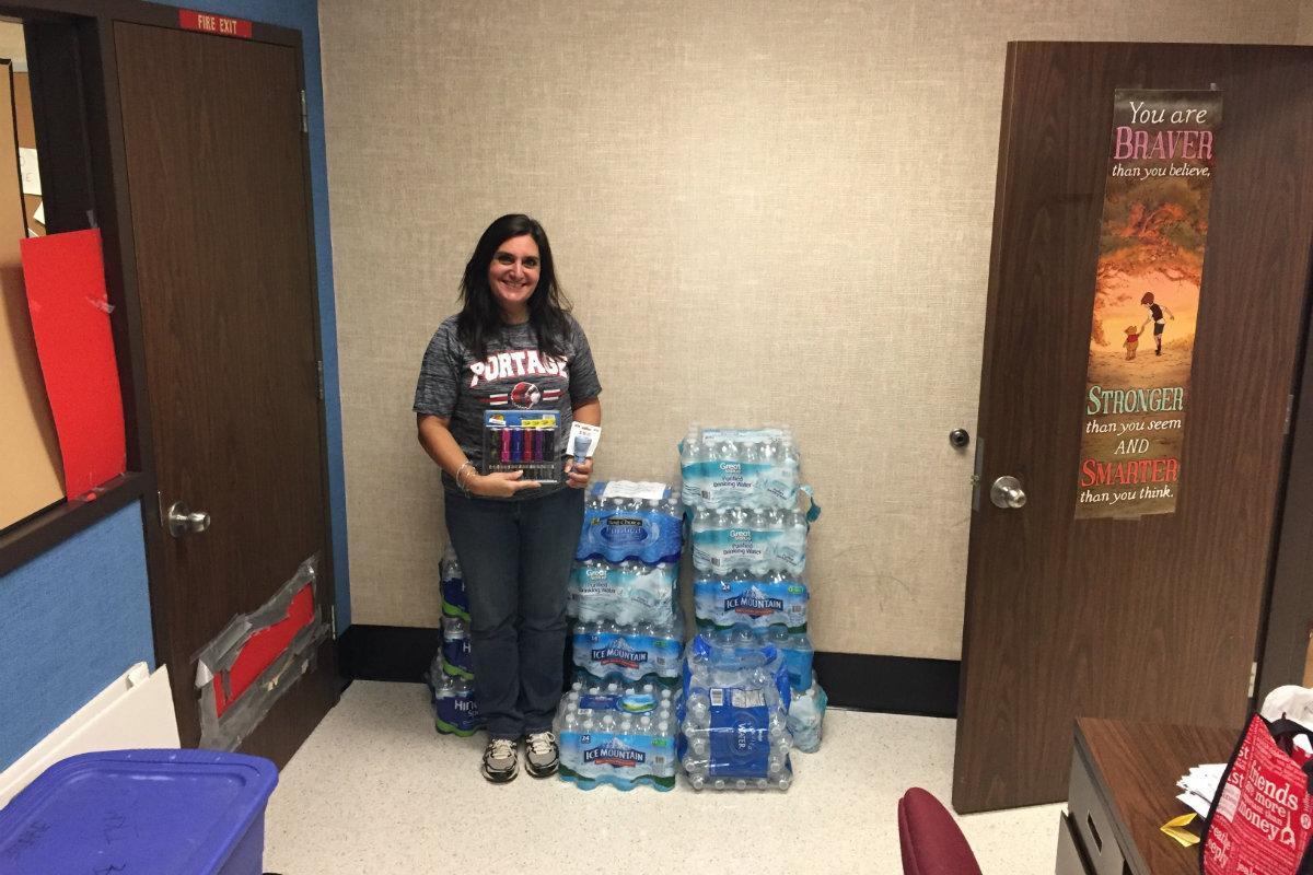 #1StudentNWI: Portage Sends Relief to Puerto Rico