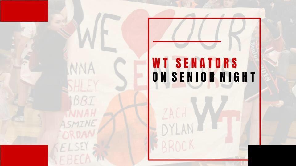#1StudentNWI: Washington Township Senators Fill Dold Gymnasium on Senior Night