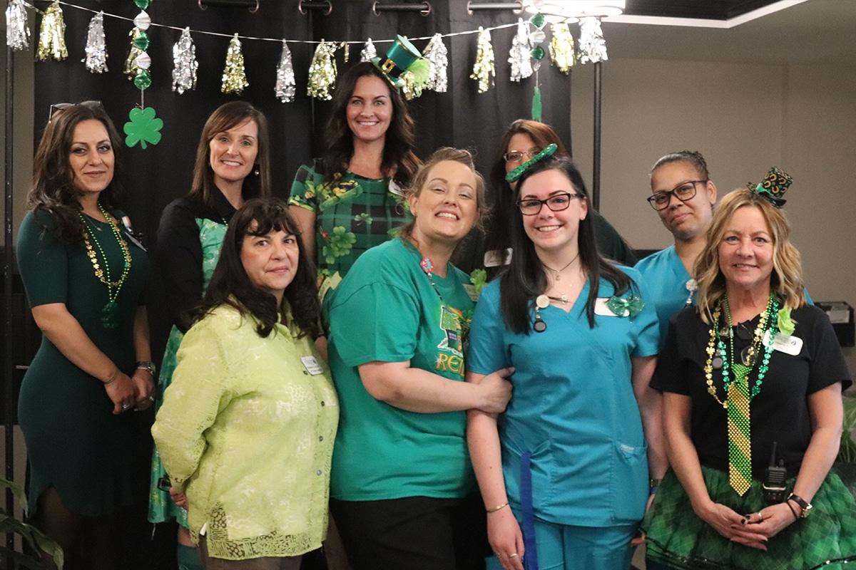 Journey Senior Living of Valparaiso celebrate their one-year anniversary Irish-style
