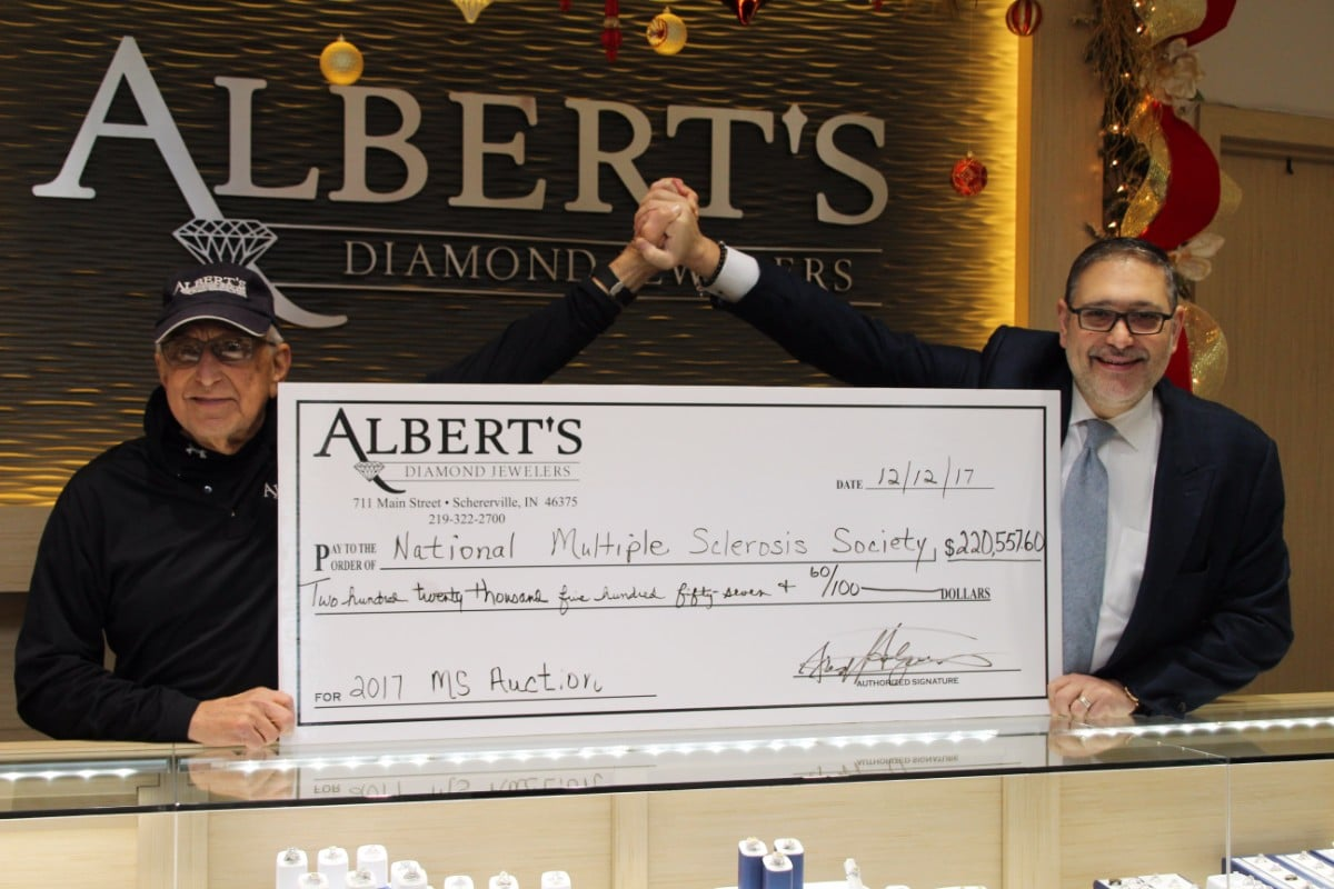 Albert's Diamond Jewelers Prepares for 15th Annual Auction Benefiting Multiple Sclerosis
