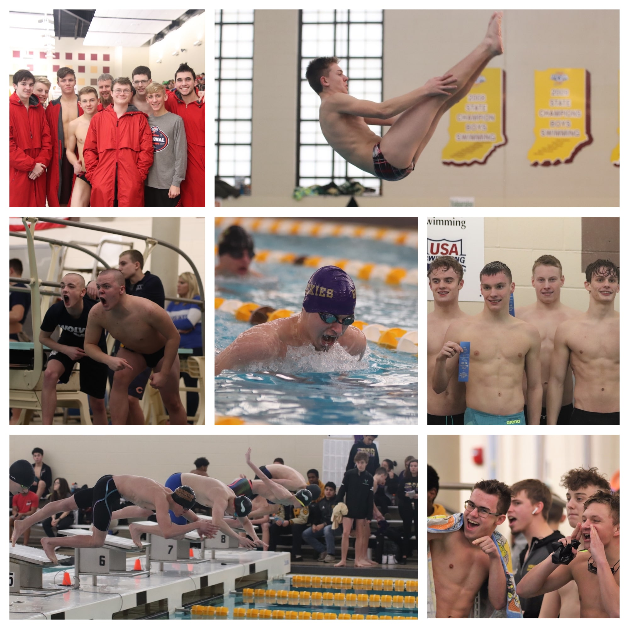 Excitement and Success at Boys Swimming Sectional Finals at Chesterton