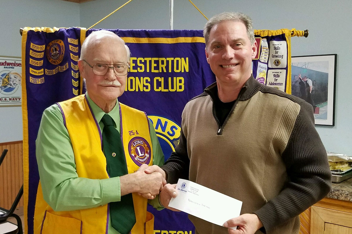 Chesterton Lions Club Donates to Support Rebuilding Together – Duneland's 20th Anniversary Work Day