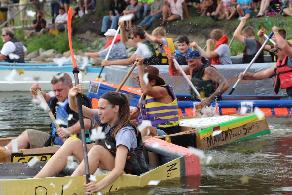 City of Hobart and Hobart Parks Department Brings Creativity and Competition Together at Annual Lakefront Festival's Dam Duck Tape & Cardboard Regatta