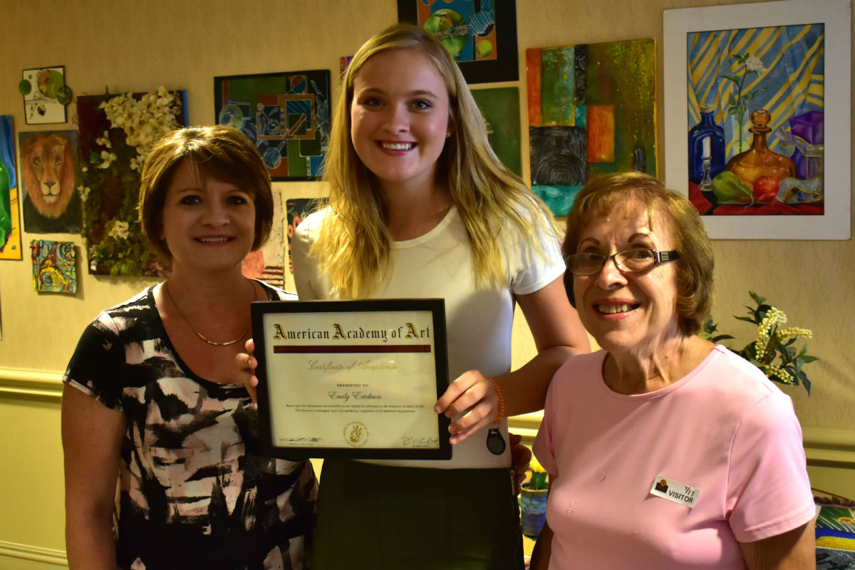 Residences at Deer Creek Host Art Show to Bid Goodbye and Good Luck to Local Artist and Employee