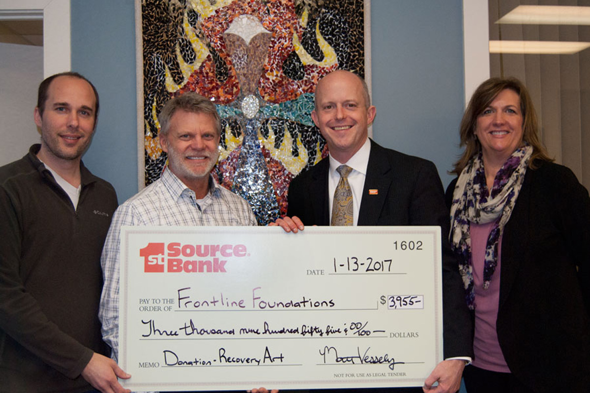 1st Source Bank Supports Frontline Foundations' Art Recovery Program with $3,955 Grant