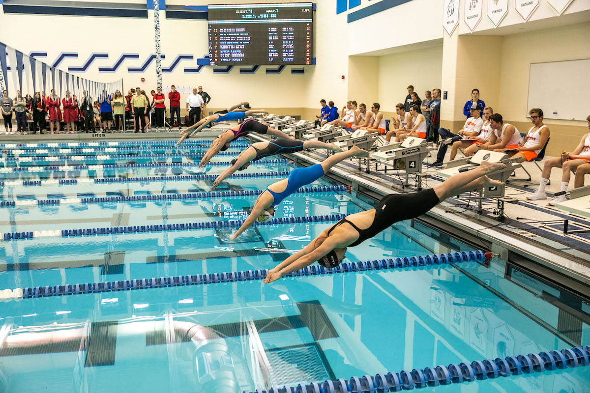 A Season of Hard Work Equal Success at the Girls Swimming Sectional Championship at Lake Central High School