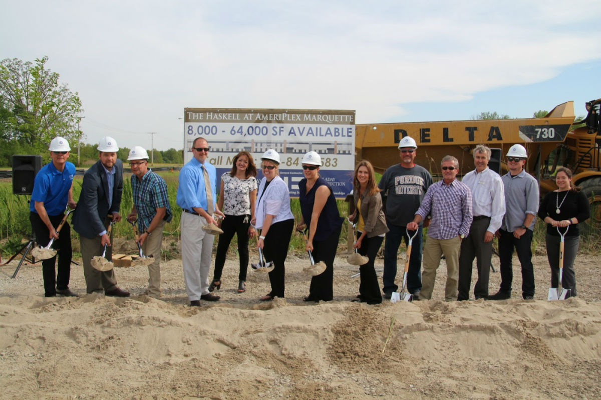 Holladay Properties, Michigan City Development Organizations Gather to Break Ground on New 64,000 sq/ft Haskell Building