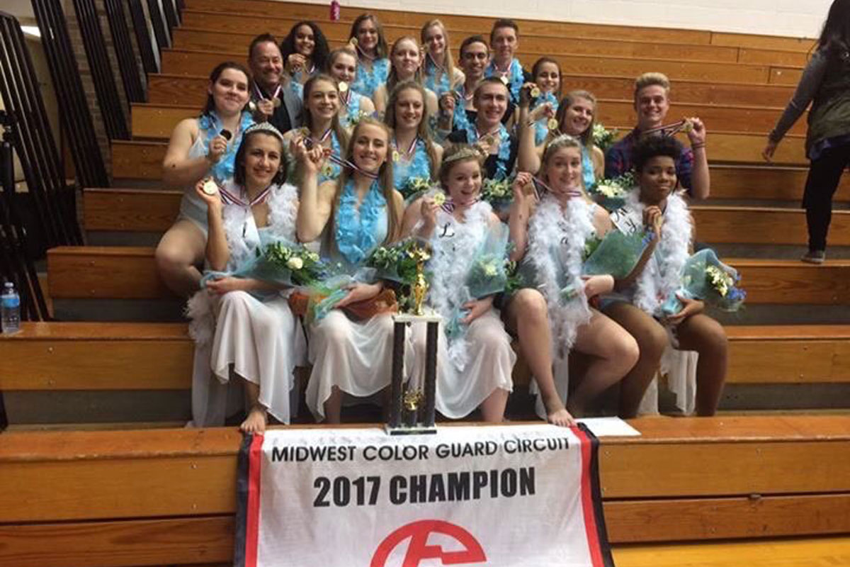 #1StudentNWI: Winter Guard's Successful Season at La Porte High School
