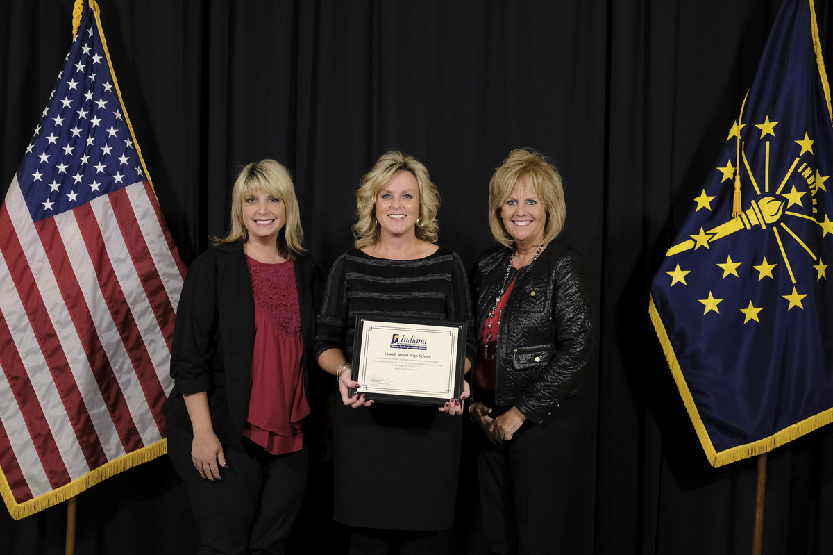 Lowell High School Honored By Dr. Jennifer McCormick at Dual Credit Ceremony