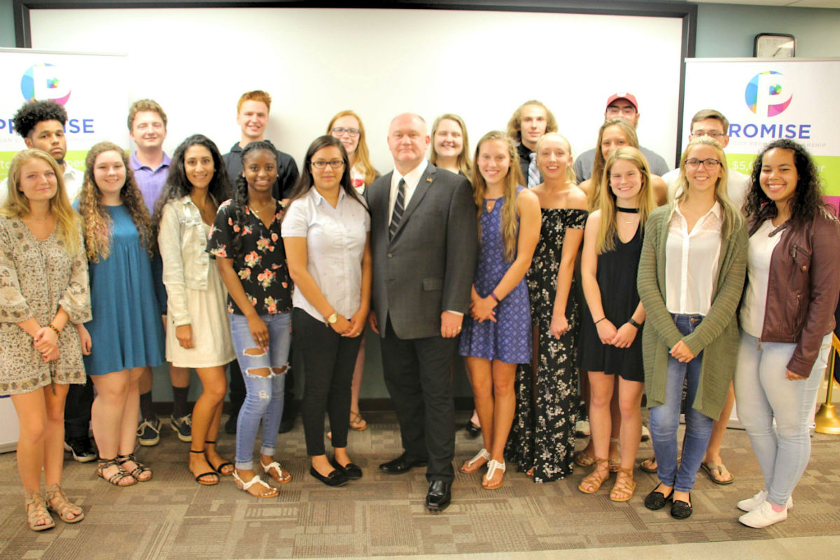 Mayor Ron Meer Honors Recipients of First Annual Michigan City Promise Scholarship
