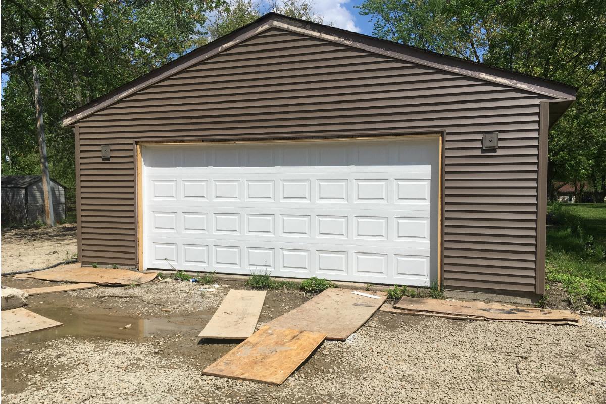 Overhead Door Company of Northwest Indiana Donates Garage Door to Habitat For Humanity Home