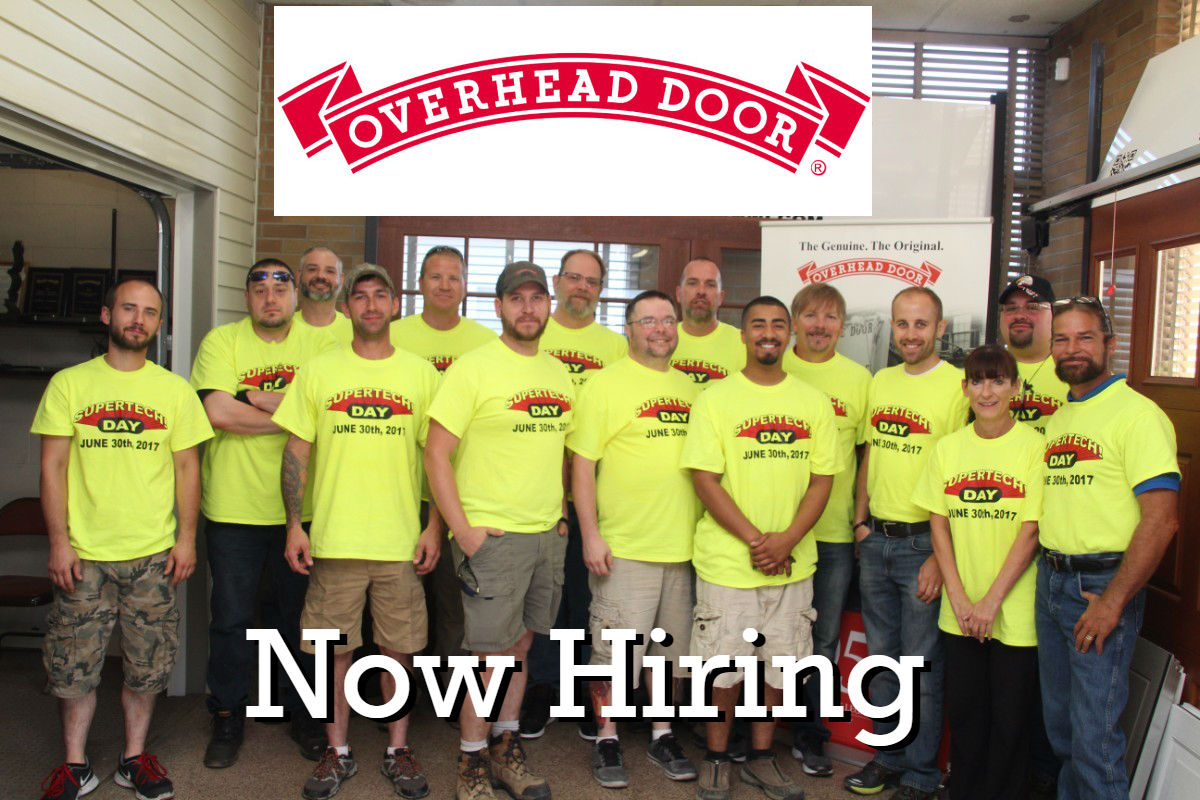 Overhead Door Company of Northwest Indiana is Hiring for 3 New Positions