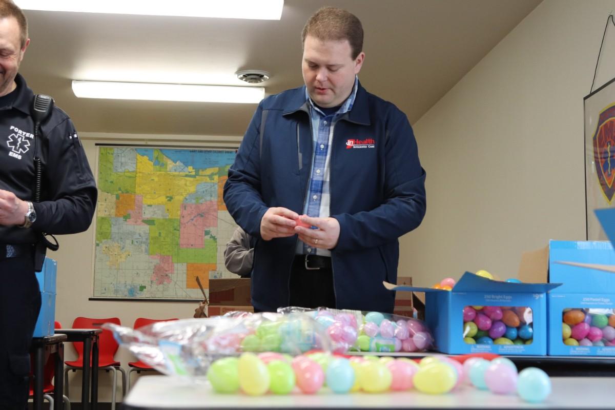 Porter EMS and INHealth Prep For Big Easter Egg Hunt