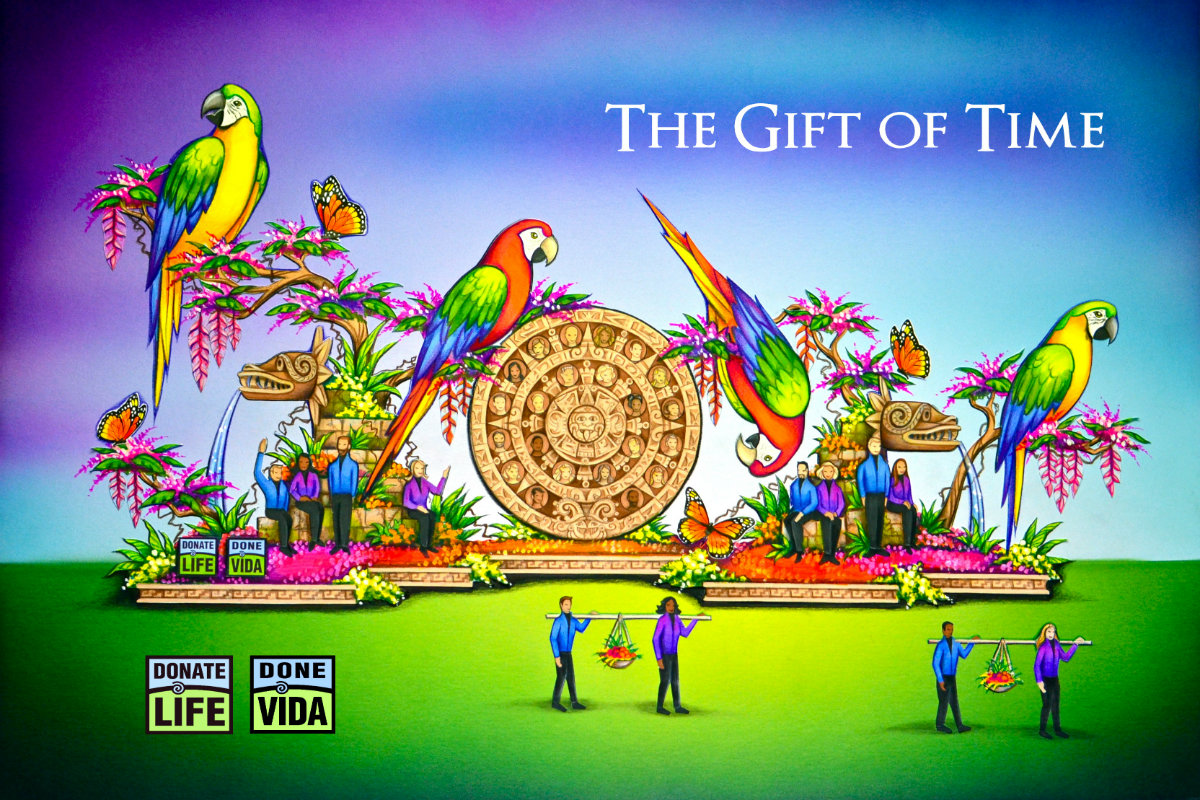 Rose Parade Float Honors Organ, Eye and Tissue Donors, Carries Messages From the Heart