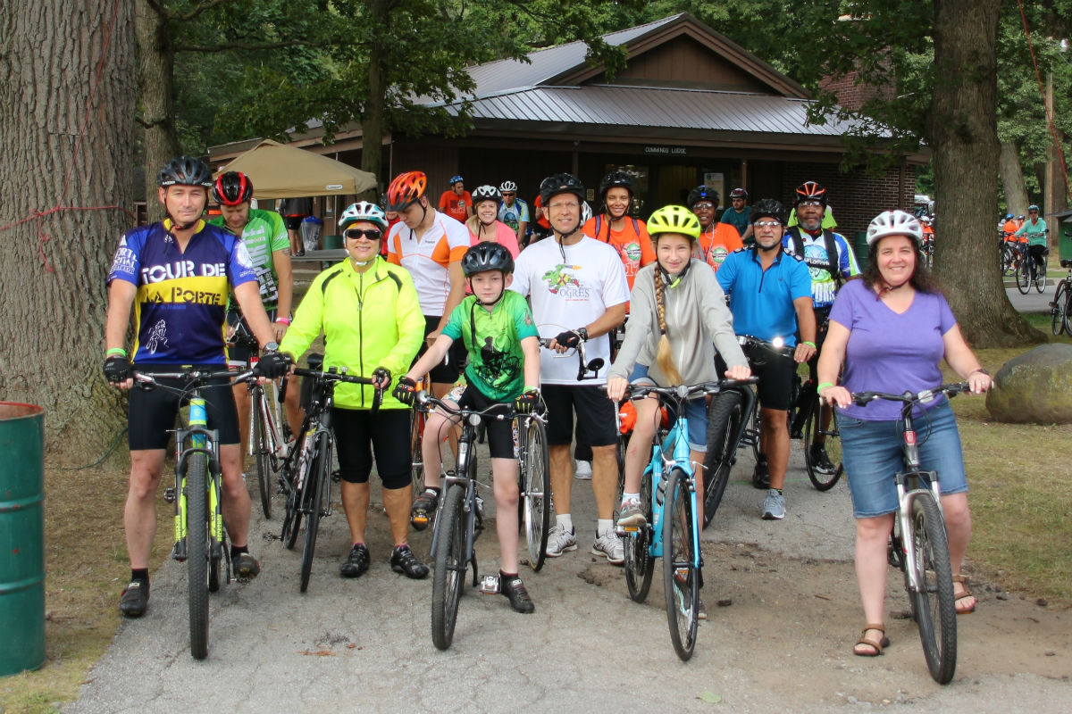 Cyclists Close Out 2017 Tour de La Porte with Day of Bike Rides of Up to 100 Miles