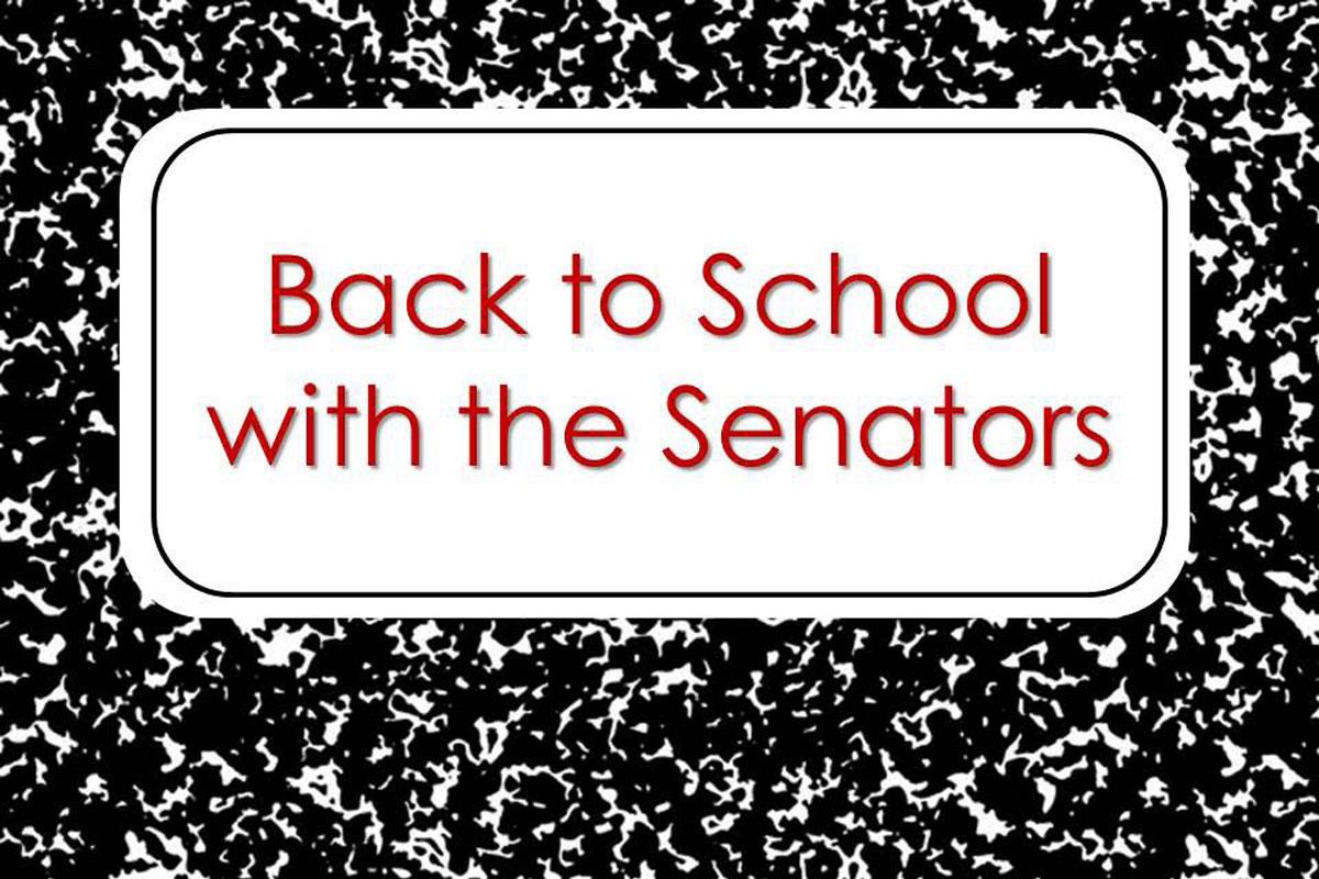 #1StudentNWI: The Senators Go Back to School