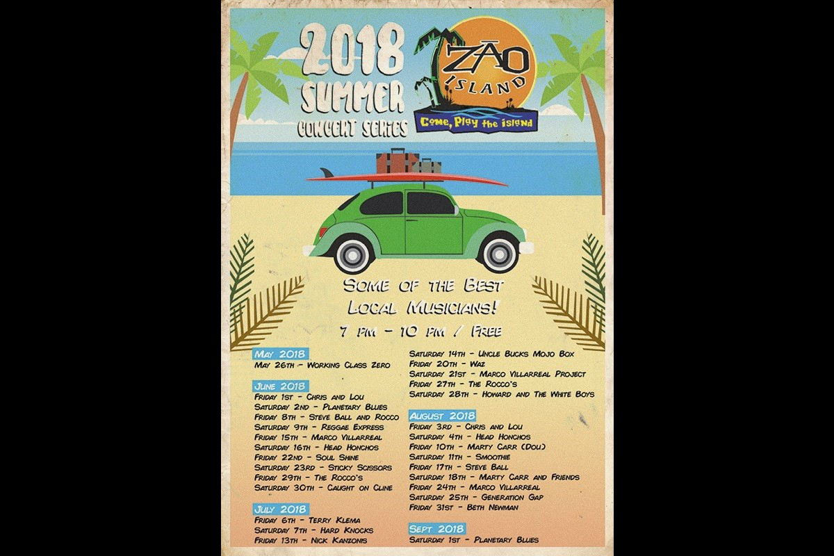 Zao Island Gears Up for Another Summer of Music & Fun with 2018 Summer Concert Series!
