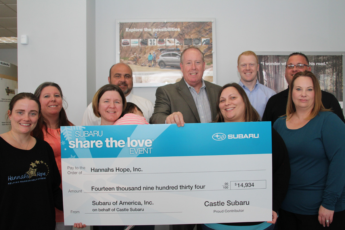 Hannah's Hope Gets Closer to All-Inclusive Playground By Sharing the Love with Castle Subaru