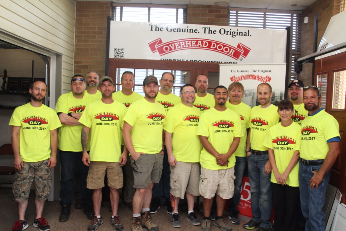 Overhead Door Shows Their Appreciation for Technicians on Supertech Day